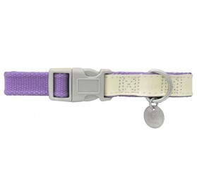 Collar Perros MacLeather Cotton Lila