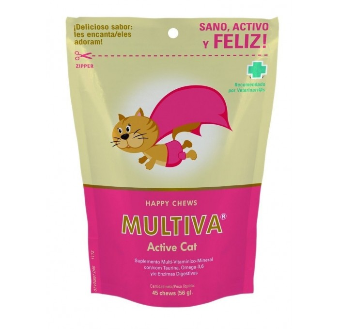 Multiva Active Cat, 45 Premios Chews