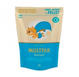 Multiva Calming Hairball, 45 Premios Chews
