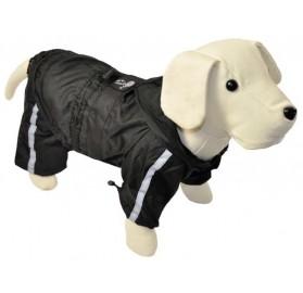 Chubasquero para Perro Reflectante con Patas Negro