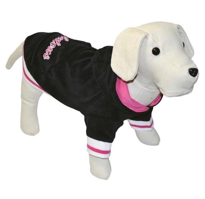 Sudadera para perros de terciopelo negro Fabulous