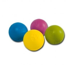 Pelota para perros de goma grabada de colores