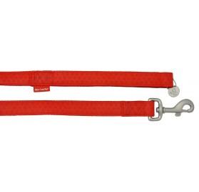 Correa Perros Mac Leather Rojo