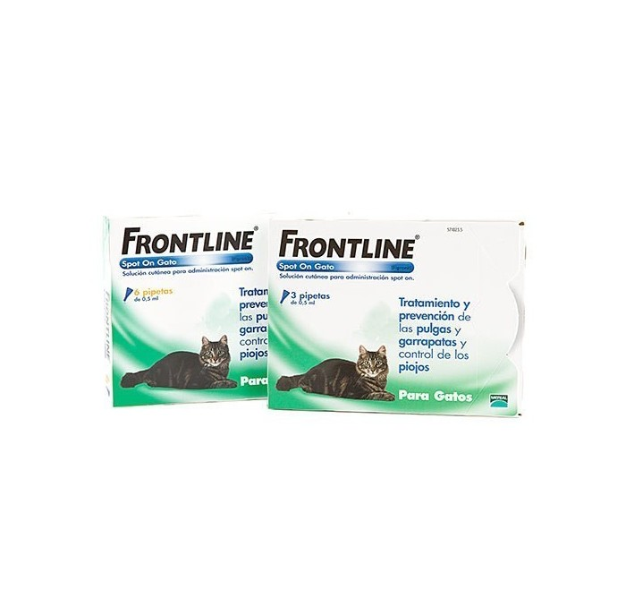Frontline Spot On gatos, 3 pipetas