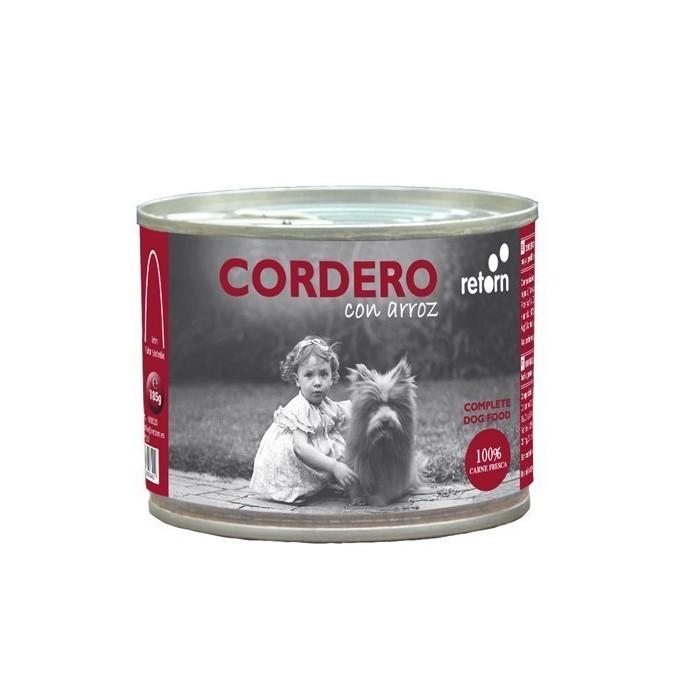 Latas para perros Cordero y Arroz Retorn, 185gr