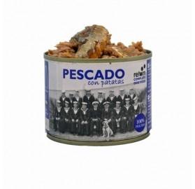 Latas para perros Pescado con patatas Retorn, 185gr