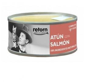 Lata de Comida Gatos Retorn Atún con Salmón, 80gr