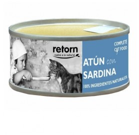 Comida Humeda Gatos Retorn Atún con Sardina, 80gr