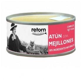 Comida en Lata Gatos Retorn Atún con Mejillones
