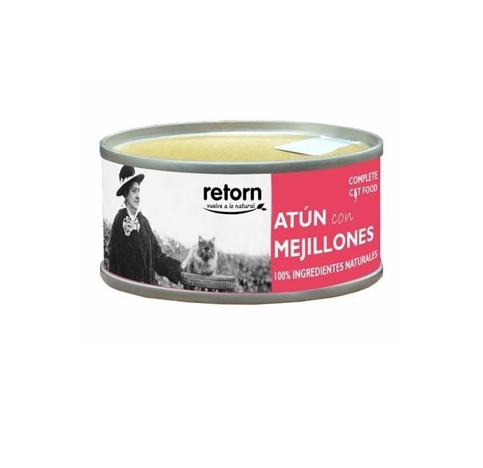Comida en Lata Gatos Retorn Atún con Mejillones, 80gr
