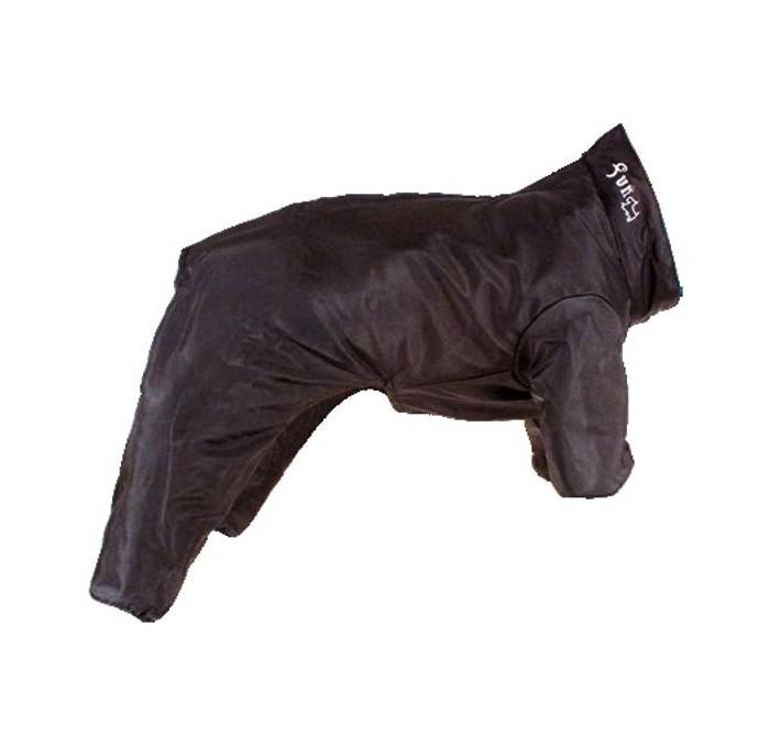Impermeable para Perro 4 patas acolchado Negro