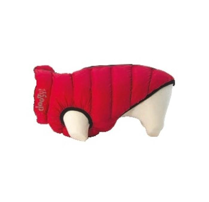 Abrigo Perro Lighty Reversible Rojo y Negro