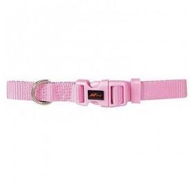 Collar Basic para perros Nylon Rosa