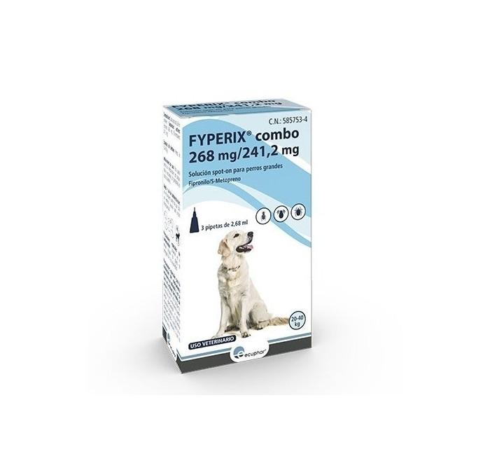 Fyperix Combo Perros 20-40kg Pipetas Ecuphar