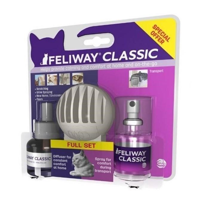 Pack Kit de Iniciación Feliway: Difusor + Recambio + Spray Travel