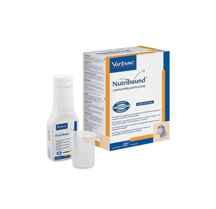 Nutribound Gatos Solución oral Virbac, 3x150ml