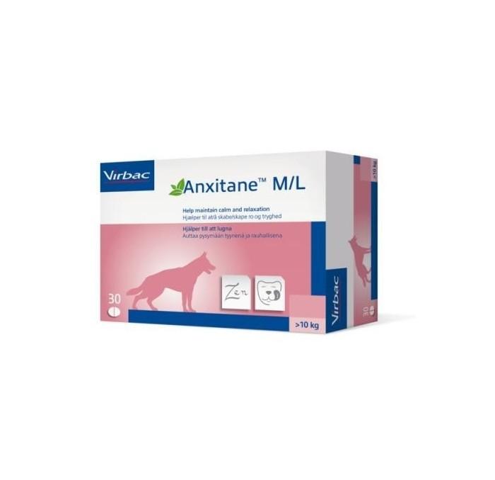 Anxitane para Perros +10kg Virbac, 30 comprimidos