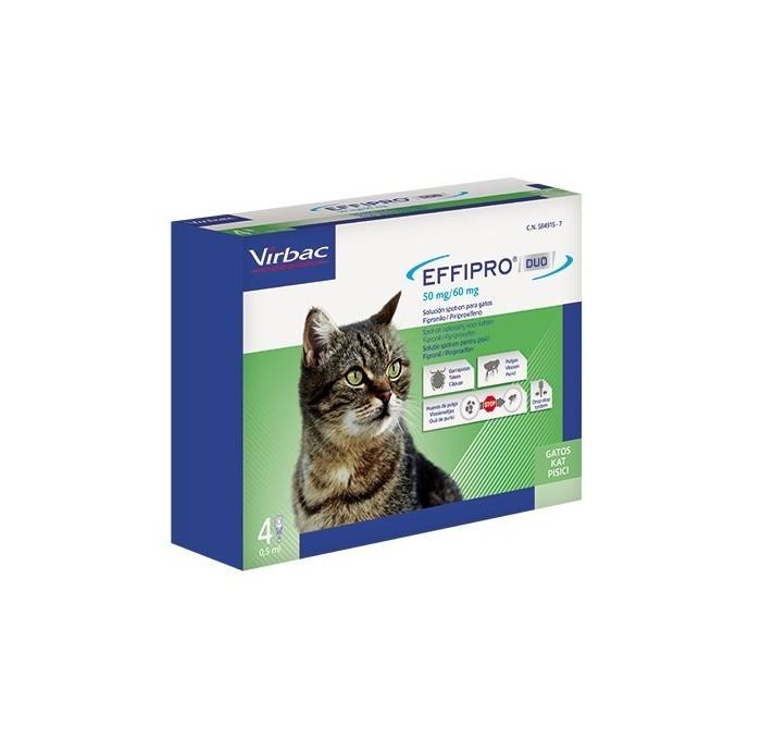 Pipetas Effipro Duo Spot On Gatos Virbac