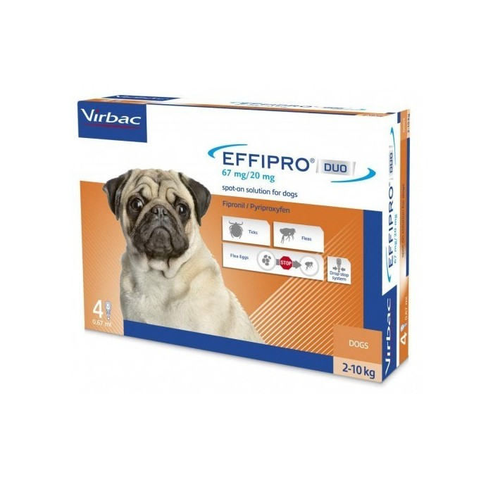 Pipetas Effipro Duo Spot On Perros 2-10kg Virbac