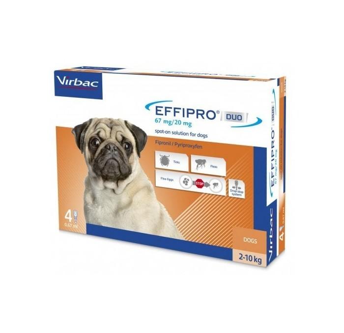 Pipetas Effipro Duo Spot On Perros 2-10kg Virbac