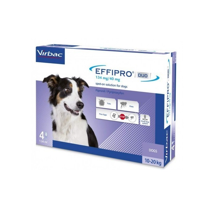 Pipetas Effipro Duo Spot On Perros 10-20kg Virbac