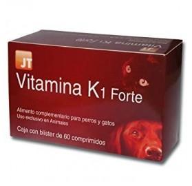 Vitamina K1 Forte Perros y Gatos JTPharma, 60 comprimidos