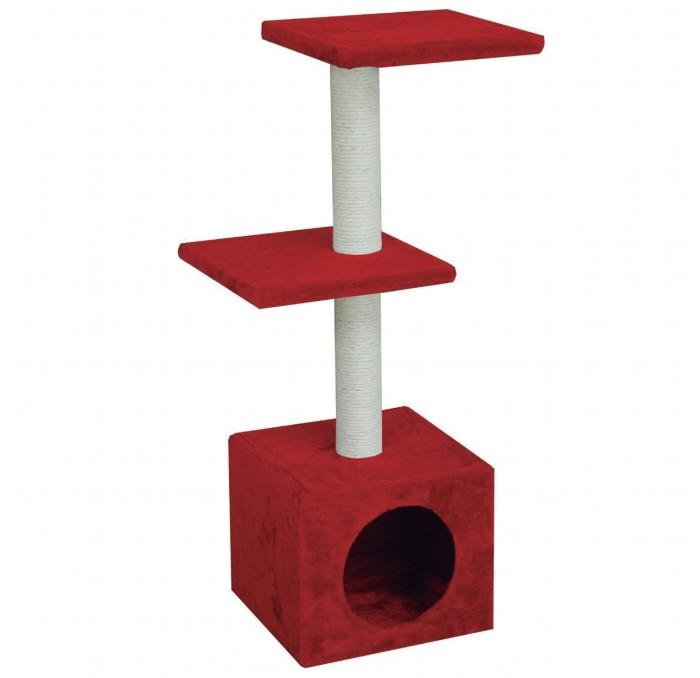 Rascador Amelie 3 alturas con gatera, 30x30x89 cm
