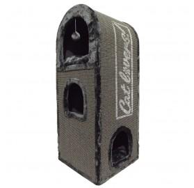 Rascador para Gatos Cat Mansion gris, 40x40x110cm