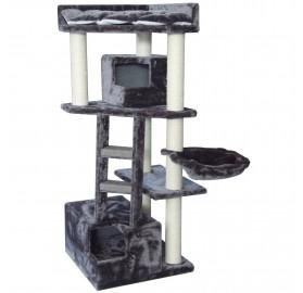 Rascador de Gato Olimpo gris, 55x55x138cm