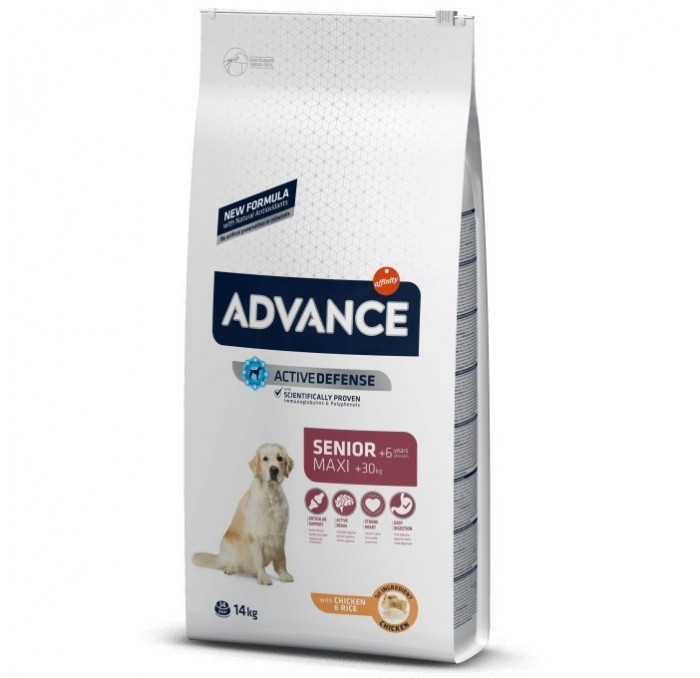 Pienso Advance Maxi Senior + 6 años, 14kg