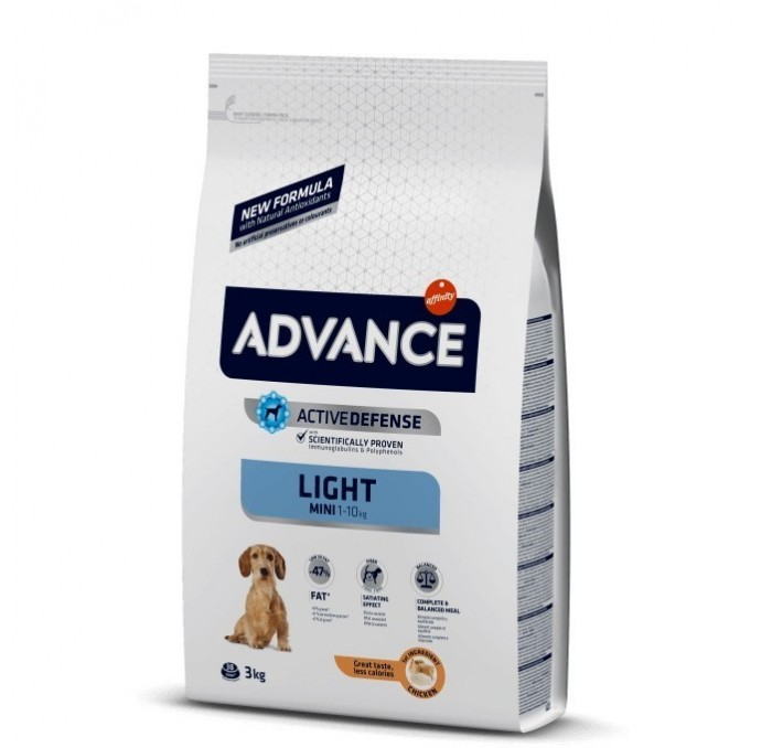 Pienso Advance Mini Light Affinity Pollo y Arroz, 3kg