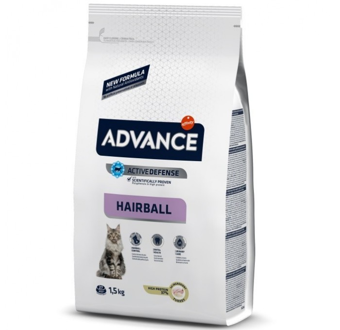 Pienso Advance Gato Hairball 1,5kg