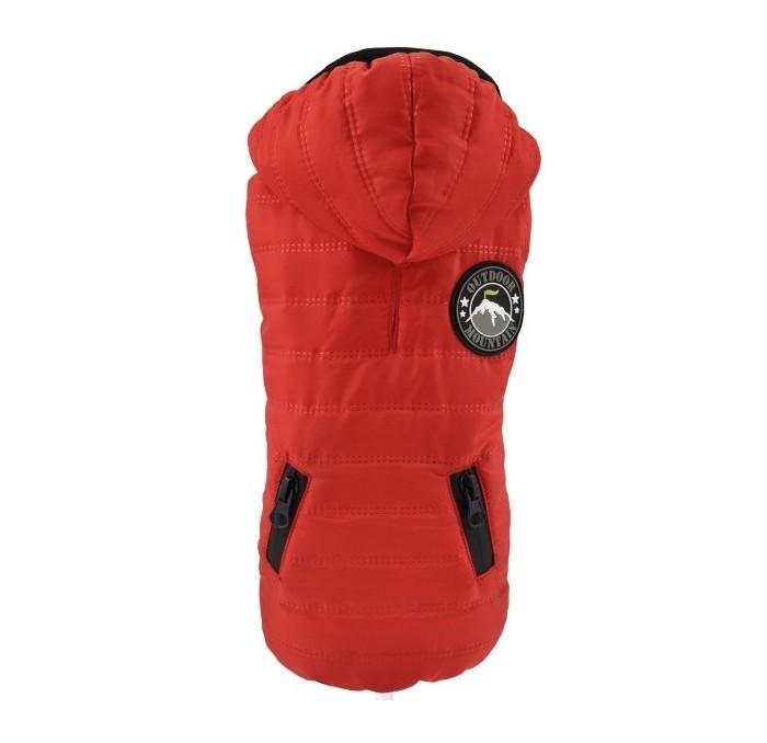 Chaqueta para Perro Rojo Casual Nayeco