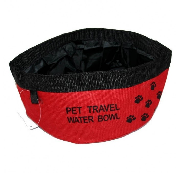 Comedero de Viaje Suave Rojo Doggy