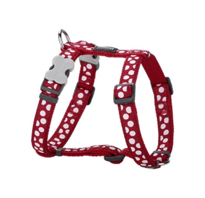 Red Dingo Arnés para Perros White Spots Rojo