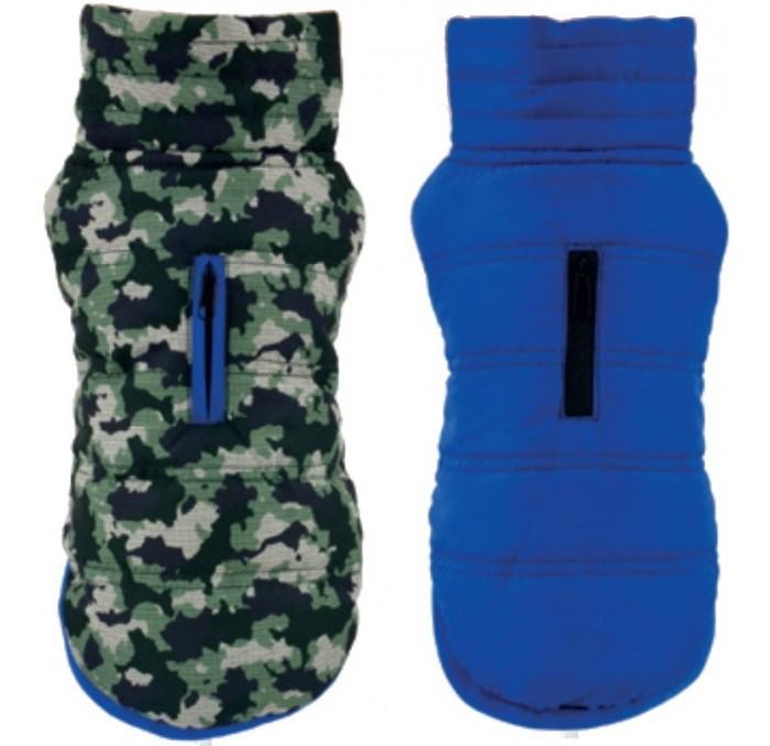 Chaqueta reversible para Perros Camuflaje azul