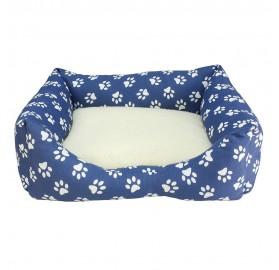 Cama para Perros y Gatos Huellas Azules