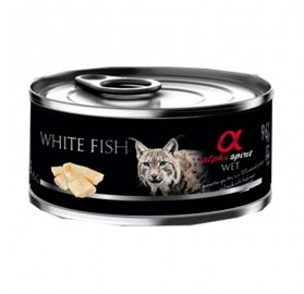 Alpha Spirit Lata para Gato White Fish