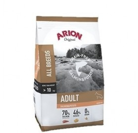 Arion Original Grain Free Salmon y Patata, 12kg