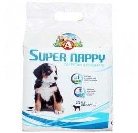 Toallita pañal empapador para perros, 60x60cm, 10 unidades