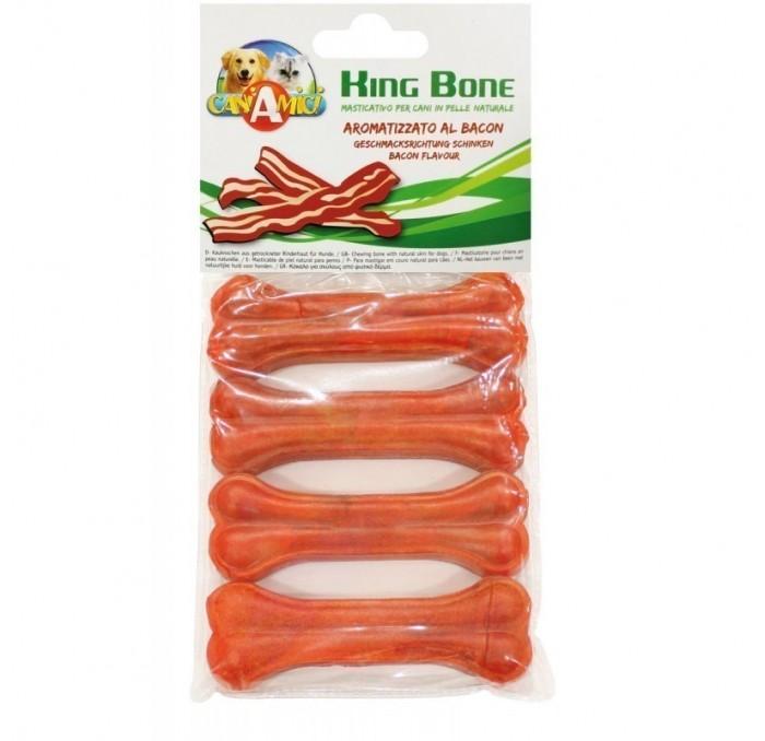 Bolsa de 4 huesos King Bone sabor Bacon 10cm