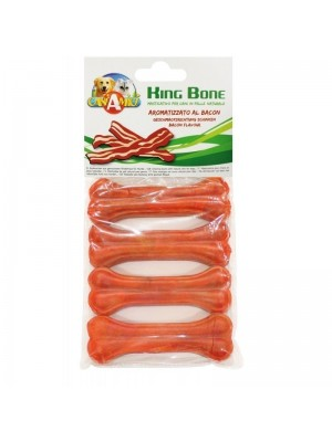 Bolsa de 4 huesos King Bone sabor Bacon 10cm